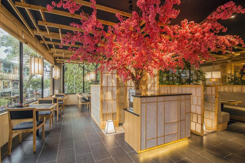 Công ty thiết kế thi công không gian nhà hàng Sushi xu hướng 2021