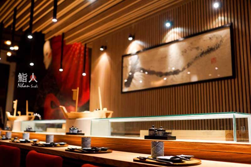 thiet ke nha hang Sushi