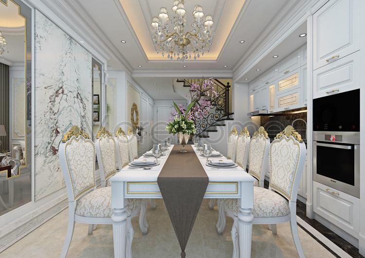 Công ty thiết kế phòng ăn căn hộ tiện nghi sang trọng