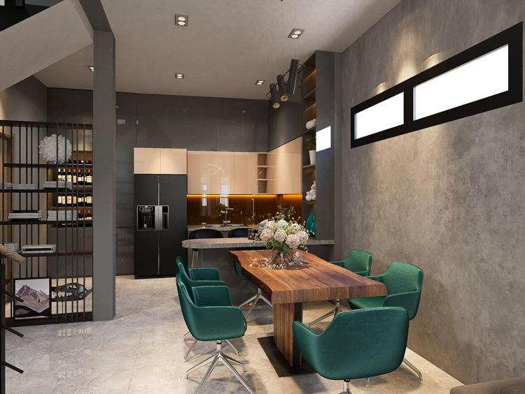 Báo giá thiết kế thi công phòng ăn căn hộ tiện ích cao