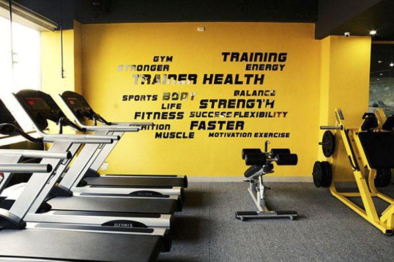 thiet ke phong Gym