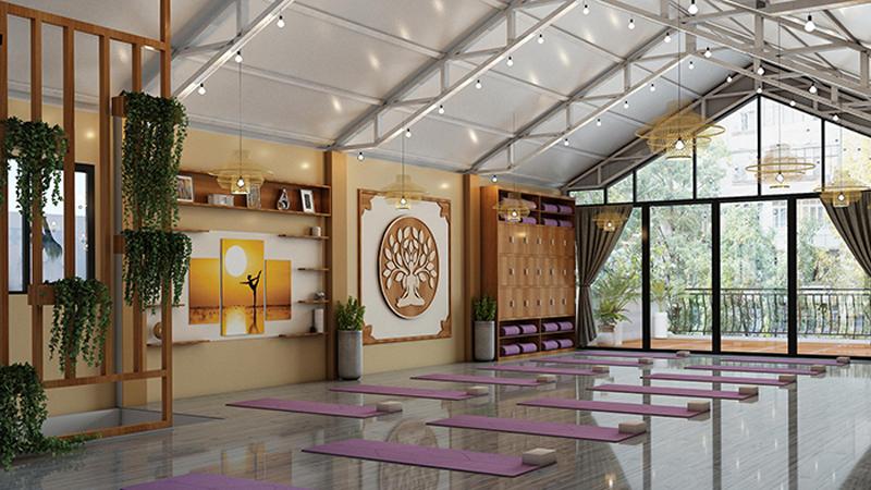thiet ke phong yoga cao cap